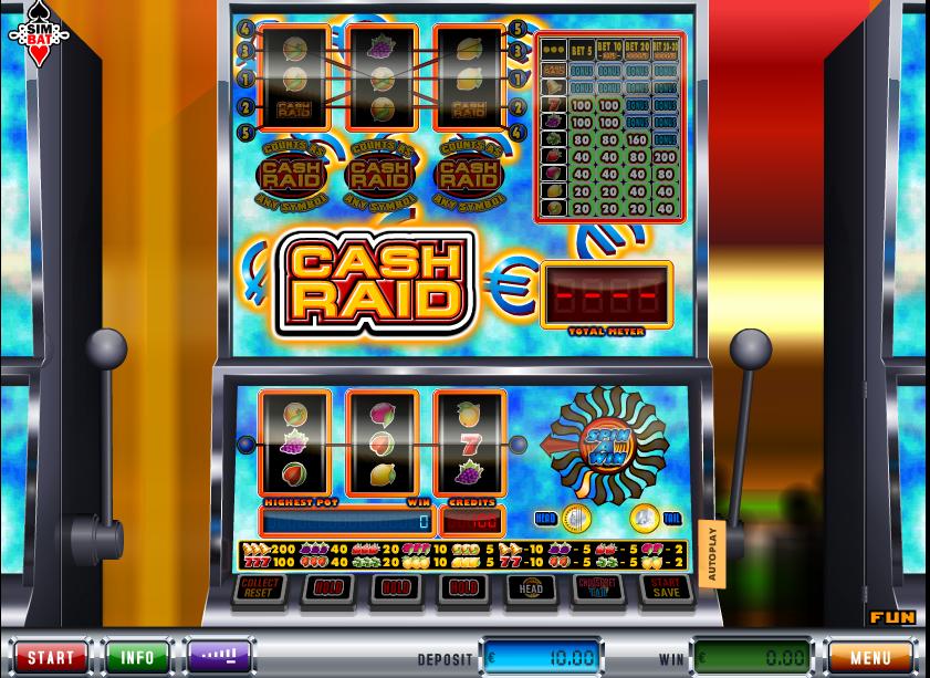 Cash Raid scherm