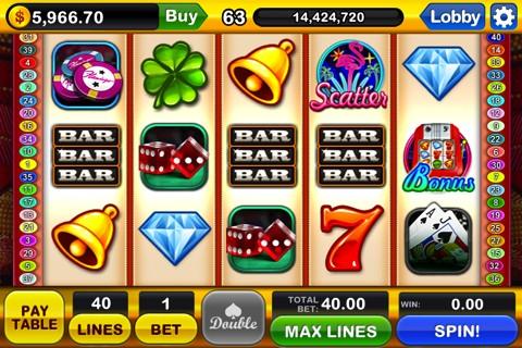Slotomania - een van de spellen in de app