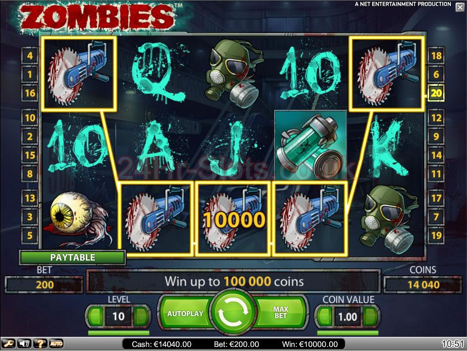 Zombies gokkast spelen